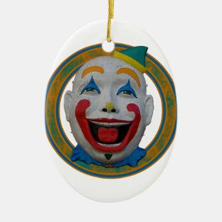 Happy Clown Ceramic Ornament