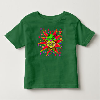 Happy Clown Face with Green Hat Toddler T-shirt