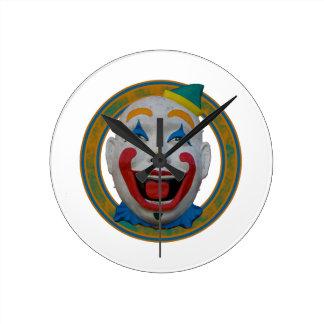 Happy Clown Round Clock