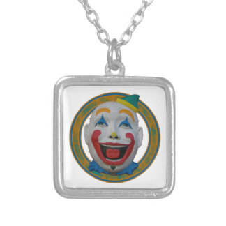 Happy Clown Silver Plated Necklace