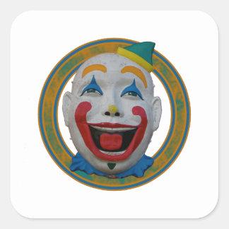 Happy Clown Square Sticker