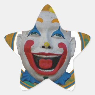 Happy Clown Star Sticker