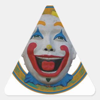 Happy Clown Triangle Sticker