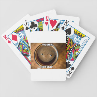 Happy Coffee Bicycle Playing Cards