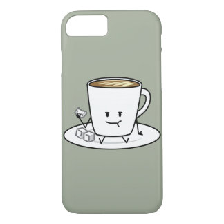 Happy Coffee Eating Sugar Cubes iPhone 7 Case