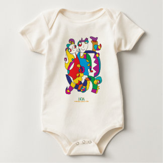 happy colorful couple friends love illustration baby bodysuit