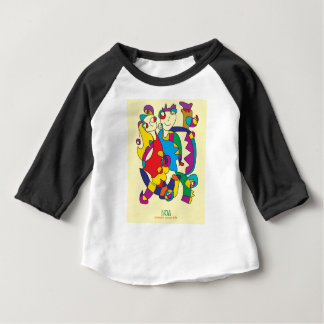 happy colorful couple friends love illustration baby T-Shirt