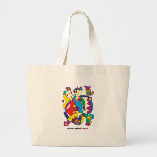 happy colorful couple friends love illustration large tote bag