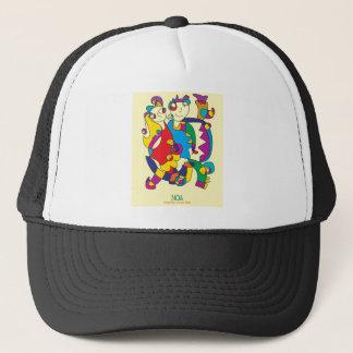 happy colorful couple friends love illustration trucker hat