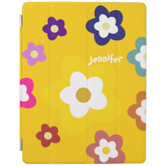 Happy Colorful Daisy Flowers Personalized-Yellow iPad Cover
