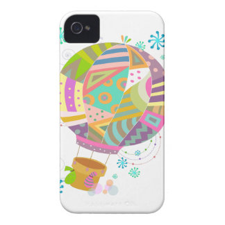 Happy Colorful Hot Air Ballon iPhone 4 Case
