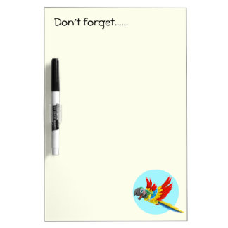 Happy colorful parrot cartoon kids Dry-Erase whiteboards