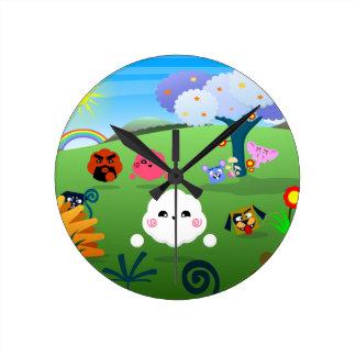 Happy Colorful Planet 01 Wall Clocks