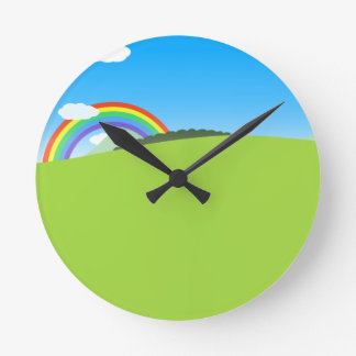 Happy Colorful Planet 03 Clock
