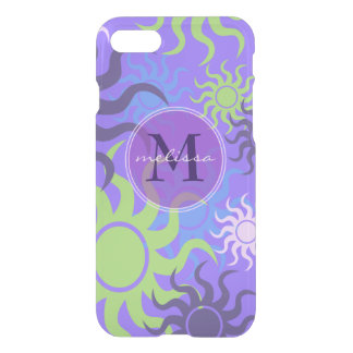 Happy Colorful Summer Suns Monogram iPhone 8/7 Case