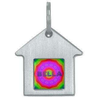 Happy Colors Home Pet Tag