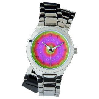 Happy Colors Silver Wrap-Around Wrist Watch