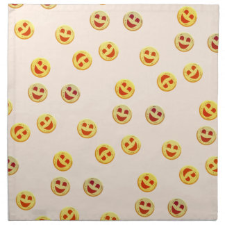 happy cookies faces napkin