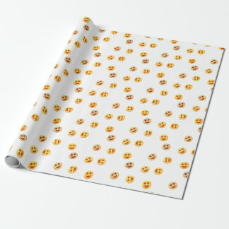 happy cookies faces wrapping paper