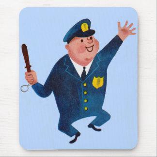 happy cop mouse pad