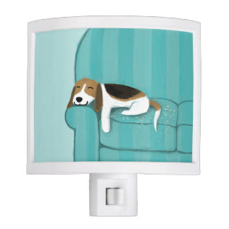 Happy Couch Beagle | Cute Dog Night Lite