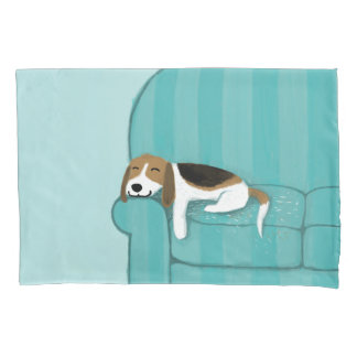 Happy Couch Beagle | Cute Dog Pillowcase
