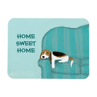 Happy Couch Dog - Home Sweet Home Beagle Magnet