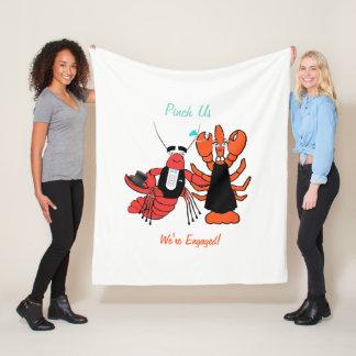 Happy Couple Crawfish Boil Fleece Blanket