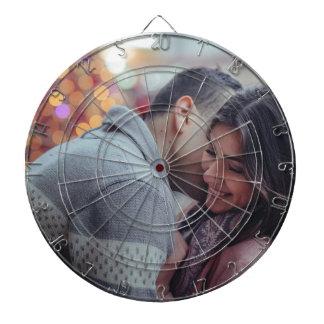 Happy couple dartboard