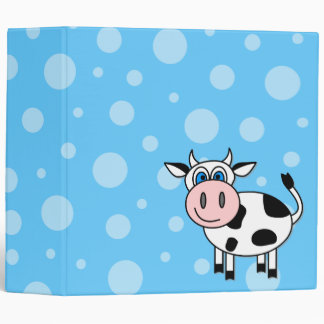 Happy Cow Cartoon Bubble Scrapbook / School Binder
