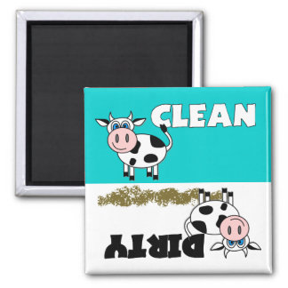 Happy Cow Clean / Dirty Dishwasher Magnet