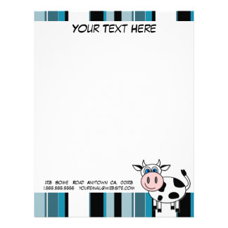 Happy Cow Customizable Letterhead