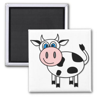 Happy Cow - Customizable! Square Magnet