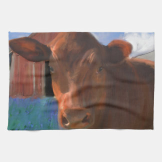 Happy Cow in West Marin Towels