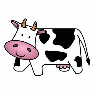 Happy Cow Key Chain Photo Sculpture Keychain