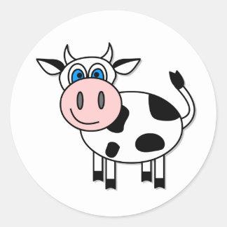 Happy Cow Sticker - Customizable!