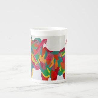 Happy cow tea cup