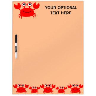 Happy Crab custom message board Dry Erase Whiteboard