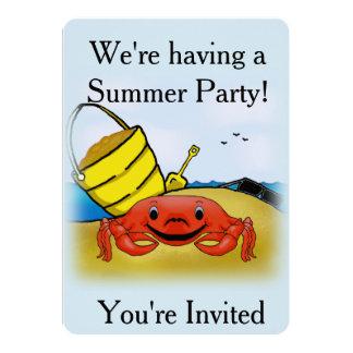 Happy Crab Party Invitation