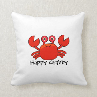 Happy Crabby/Cute Red Cartoon Crab Design Pillow