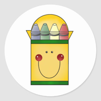 Happy Crayons Classic Round Sticker
