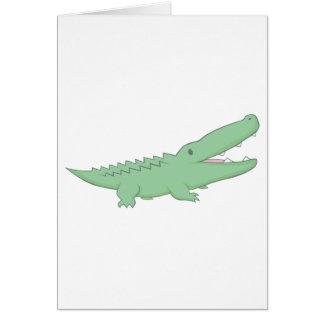 Happy Crocodile Card