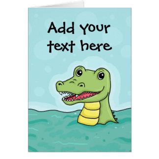 Happy Crocodile customisable Card