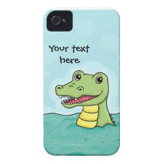 Happy Crocodile customisable iPhone 4 Case-Mate Case