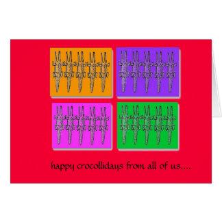 happy crocollidays card