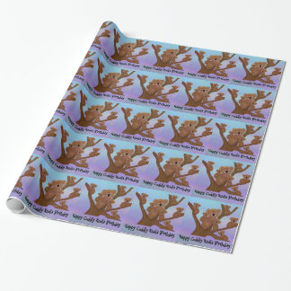 Happy Cuddly Koala Birthday Wrapping Paper