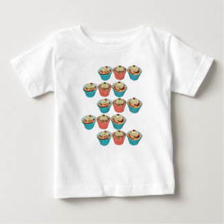 Happy Cup Cakes Baby T-Shirt