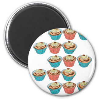 Happy Cup Cakes Magnet