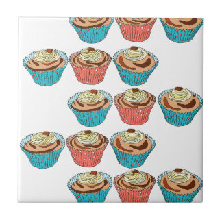 Happy Cup Cakes Tile