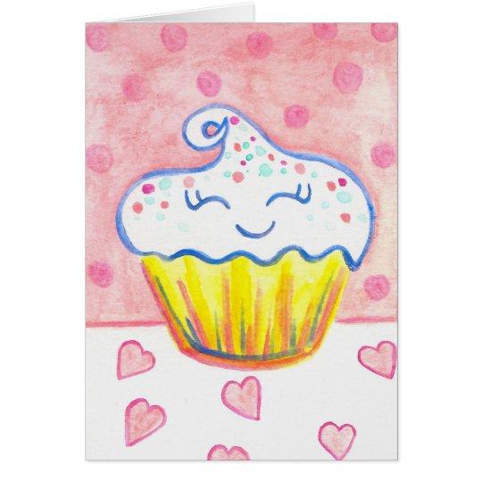 Happy Cupcake Heart Card
